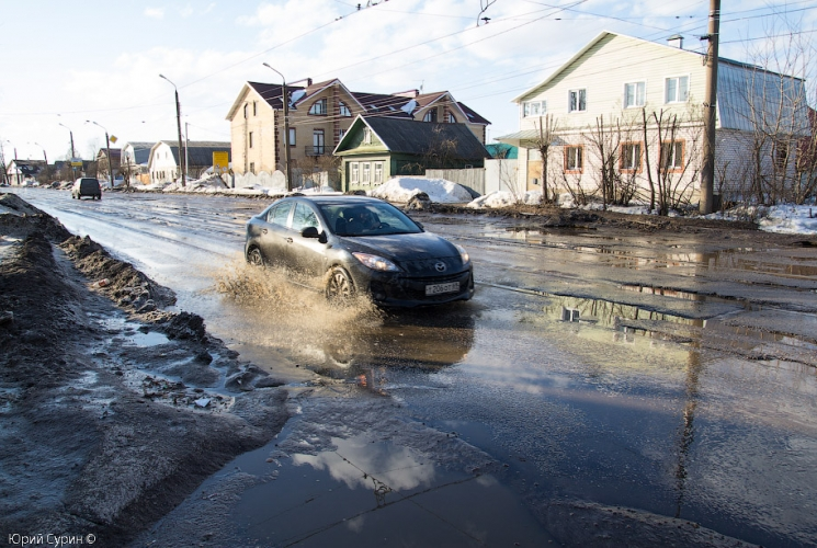 """07.04.13, дороги, рейд активистов \""""РосЯмы\"""", Тверь, ямы на дорогах"""