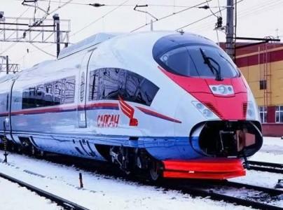 Десять вагонов поезда были перевезены по отдельности автомобильным транспортом с завода Siemens в порт Засниц на.