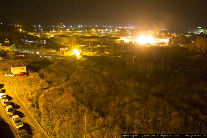 Крупный пожар на Соминке
