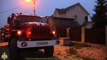 Пожар в Селижаровском районе