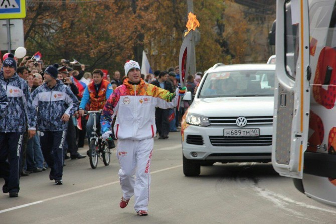 В Ржеве началась Эстафета Олимпийского огня (фото)