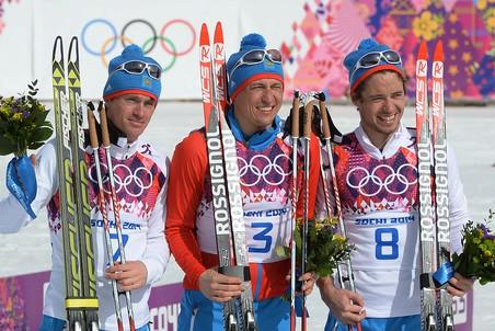 Российские лыжники заняли весь пьедестал Сочи-2014 по итогам марафона