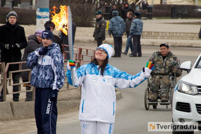 Эстафета Паралимпийского огня в Твери
