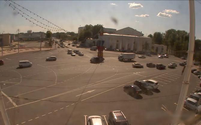 На площади Гагарина в Твери