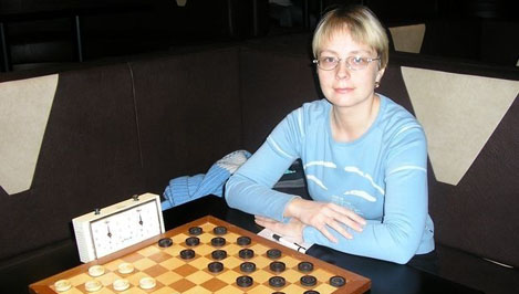Марина Боркова - абсолютная чемпионка Тверской области по шашкам