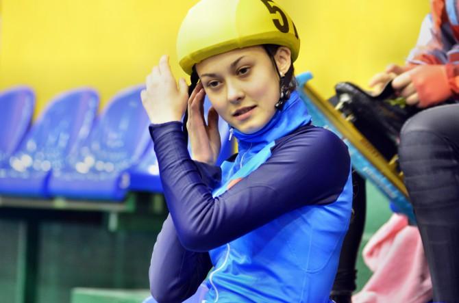 Алена Шугарова - победительница международных соревнований по шорт-треку