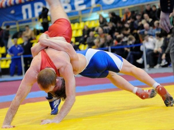 На соревнованиях по греко-римской борьбе