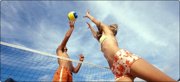 На соревнованиях по пляжному волейболу