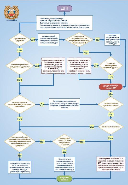 Схему оформления ДТП можно