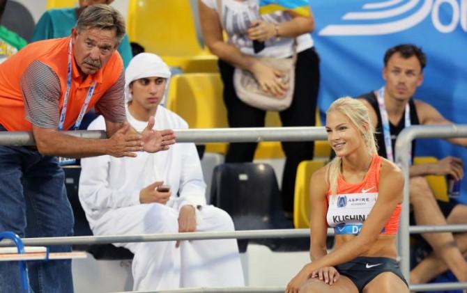 Лорен Сигрейв (на снимке слева) и Дарья Клишина