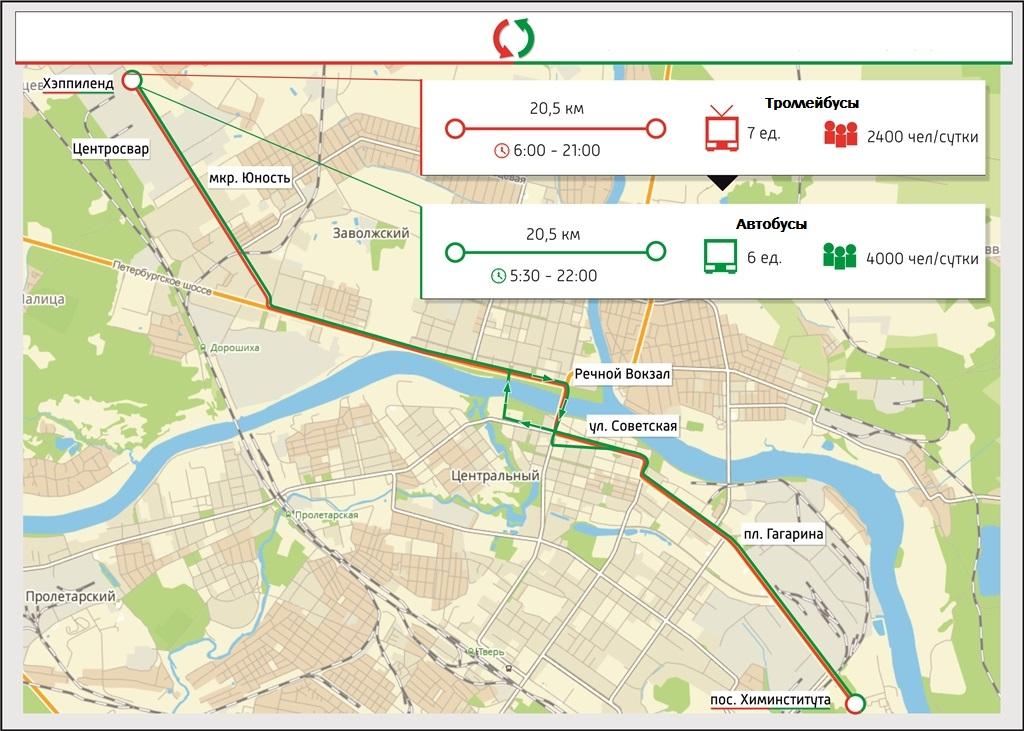 Схема транспорта твери