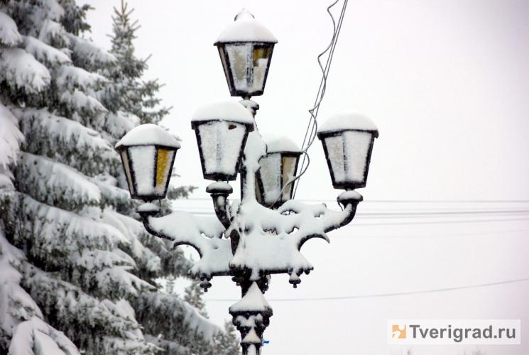 снег в Твери