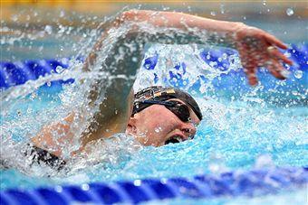 На соревнованиях по плаванию в Рузе