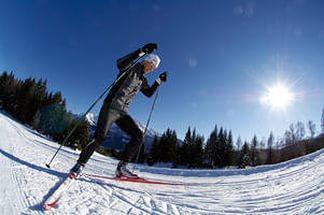 На лыжном марафоне