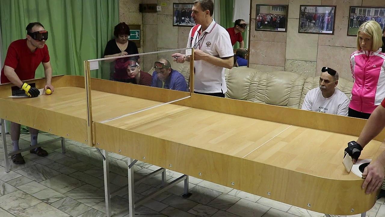 На чемпионате России по настольному теннису среди слепых