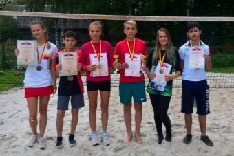 победители первенства области по пляжному теннису-2