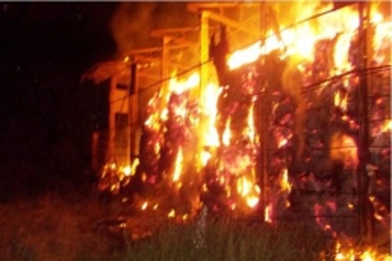 ВТверской области сгорело 300 тонн сена