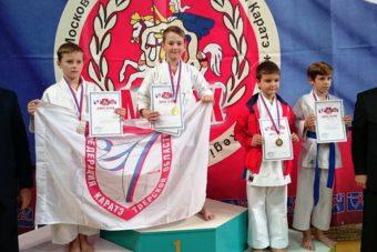 Тверские каратисты на пьедестале почета первенства Московской области