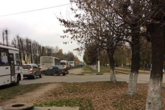 пробка на Петербургском шоссе в Твери