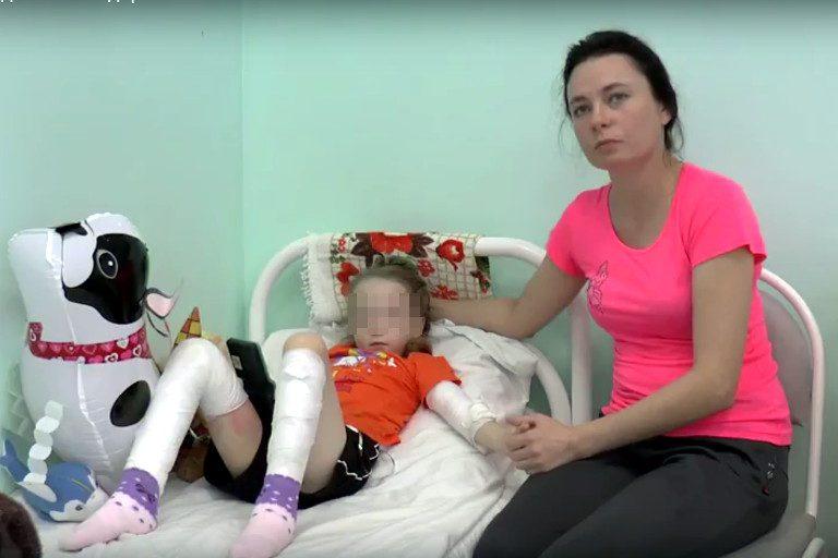 ВТвери выписали из клиники девочку, упавшую вкотлован сгорячей водой