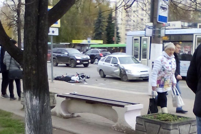 ВТвери ищут свидетелей ДТП, вкотором пострадал мотоциклист