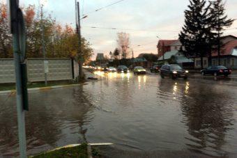 затопило улицу
