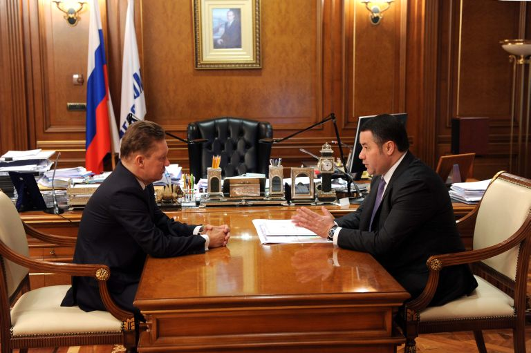 Региональное руководство планирует к 2020г газифицировать все районы Тверской области