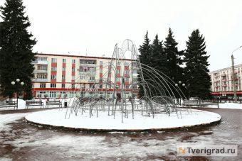 светодиодный фонтан на площади конституции