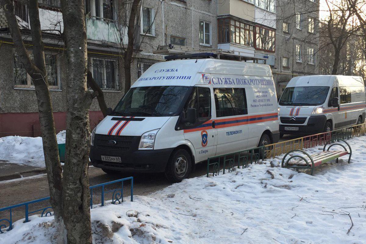 ВТвери впроцессе пожара пострадал 47-летний мужчина
