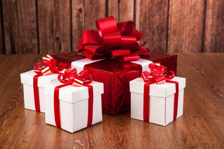 Фото подарок коробка