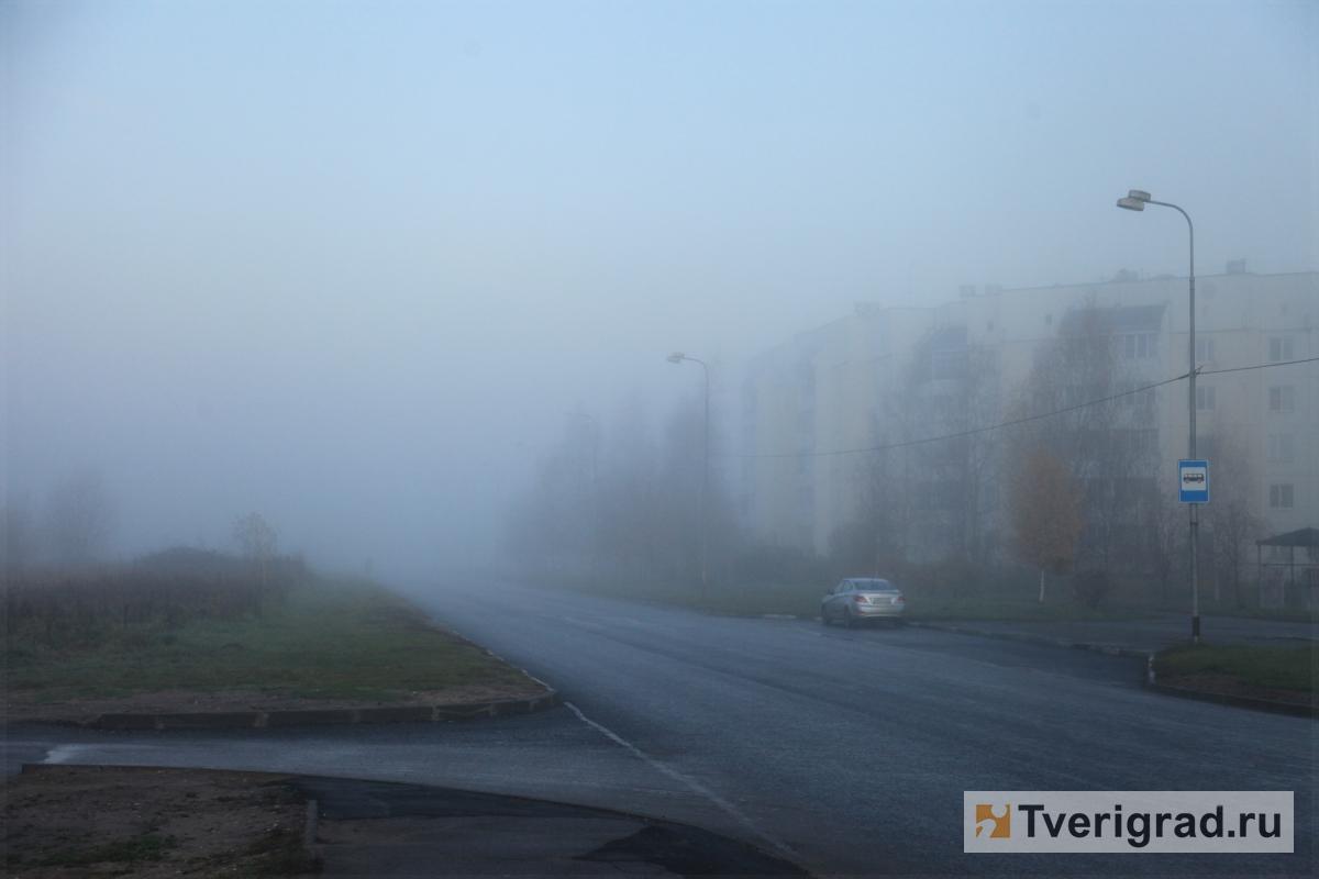 Водителей предупреждают о тумане в Тверской области