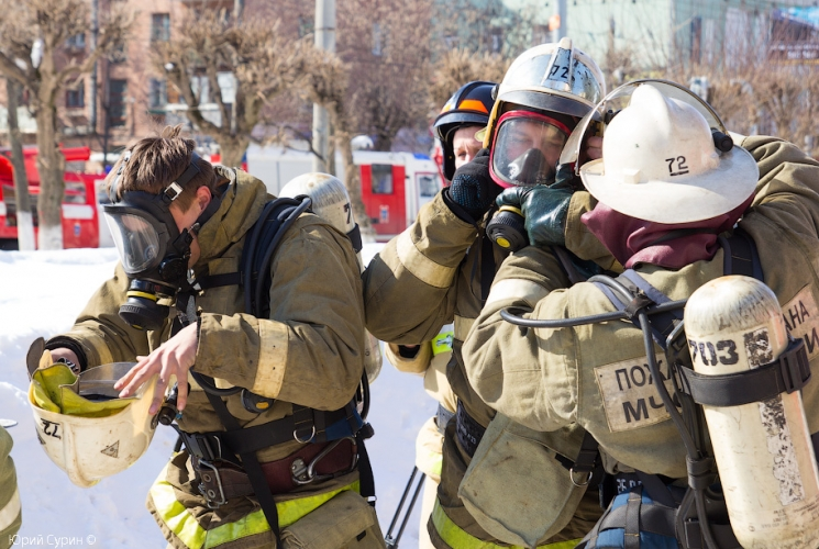 Пожарно-тактическое учение на здании ГУК Тверской государственный театр кукол