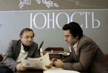 Андрей Вознесенский и Андрей Дементьев