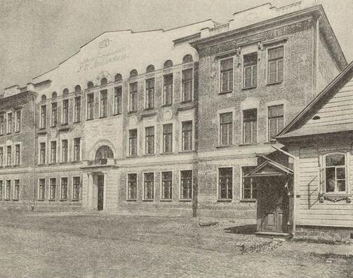 Новое здание школы Максимовича в 1911 году