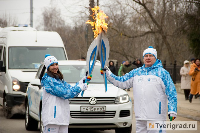 Эстафета Паралимпийского огня в Твери (15)