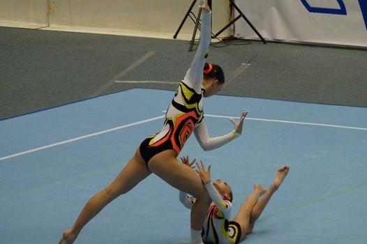 На соревнованиях по спортивной акробатике в Воронеже