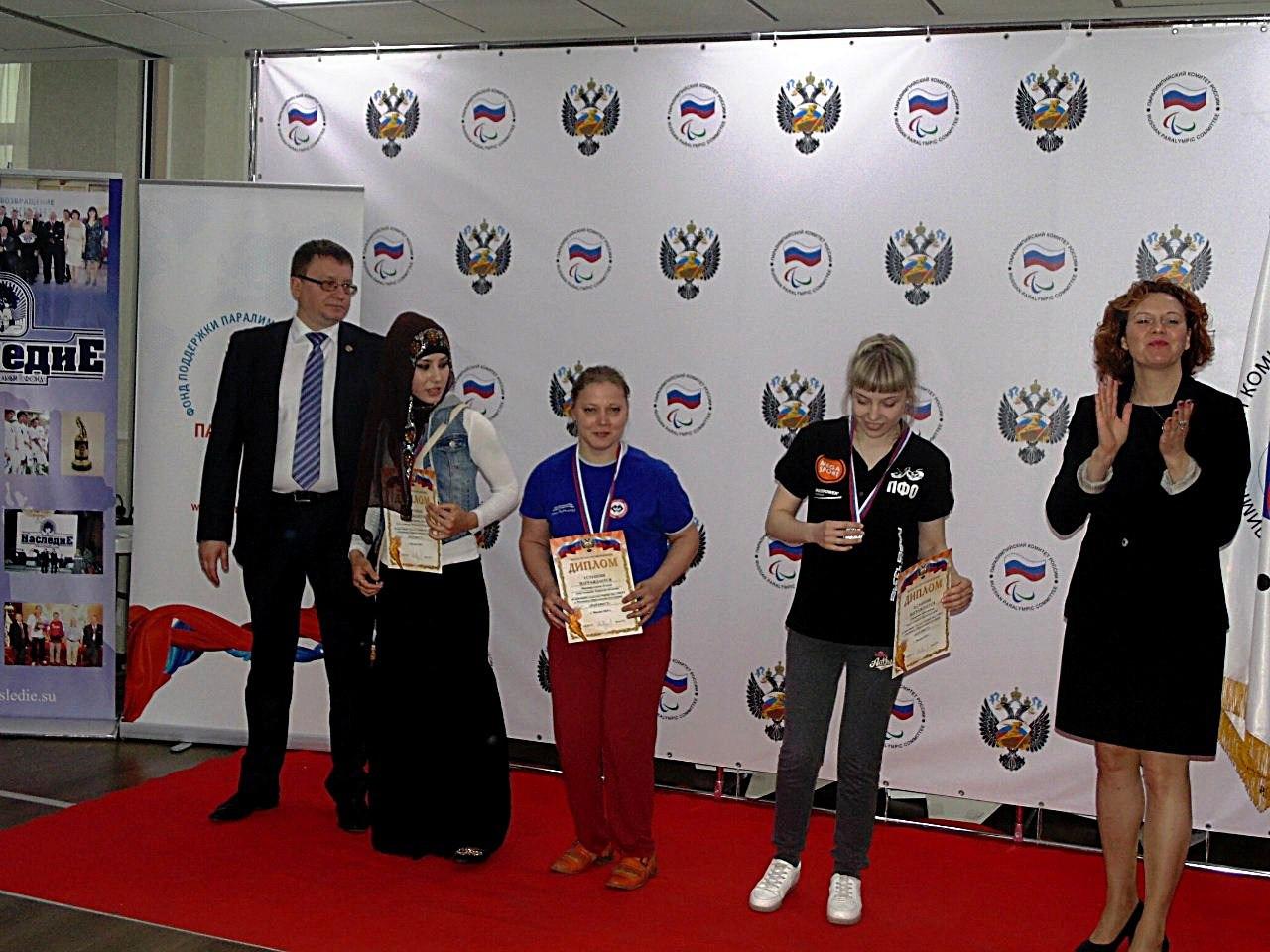 Елена Зинятуллина на церемонии награждения