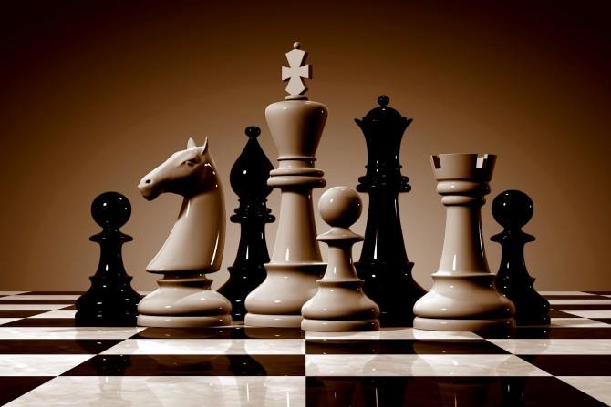 На соревнованиях по шахматам