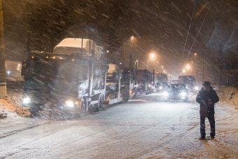 дорога снегопад