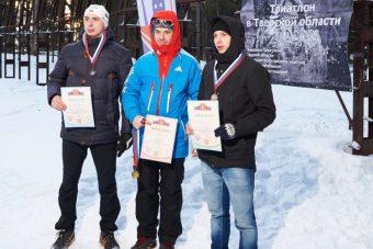 Призеры чемпионата области по зимнему триатлону
