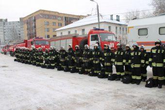 пожарные МЧС учения