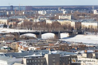 центр, тверь, новый мост, зима, весна