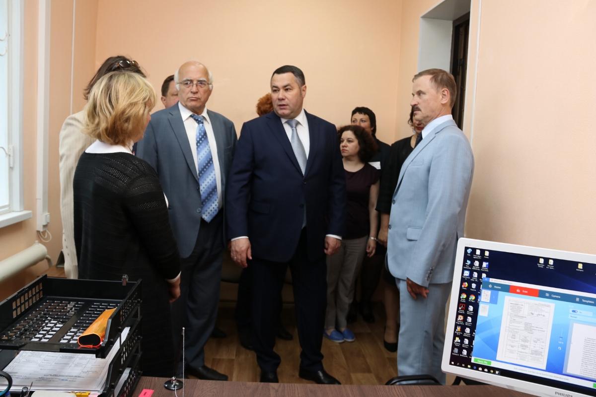 Губернатор Руденя в Пено