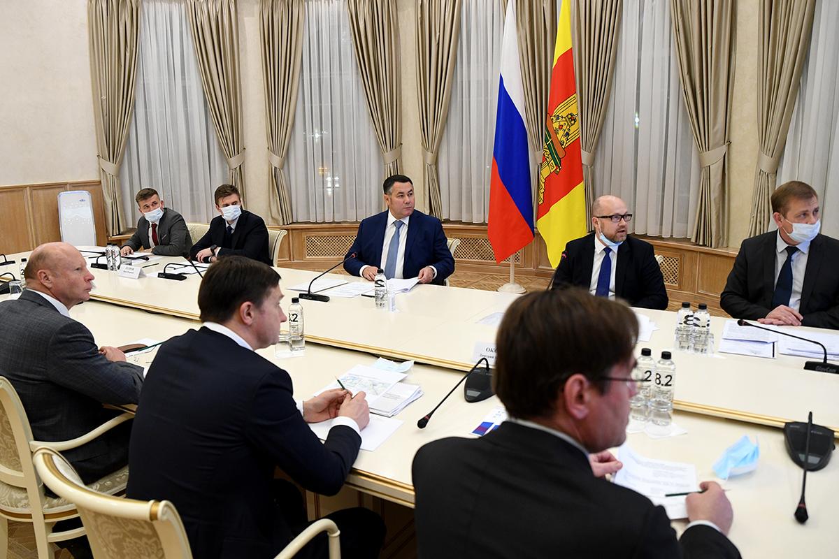 Игорь Руденя и Сергей Бачин обсудили ход реализации инвестроекта