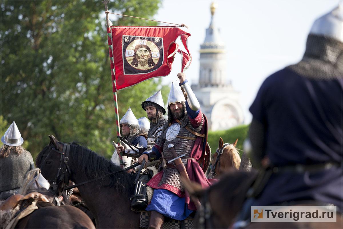 реконструкция конного похода Александра Невского в Торжке (14)